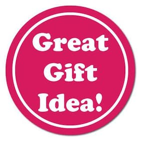 0.75 Inch Diameter Great Gift Idea White on Pink Circle Stickers, Roll of 500