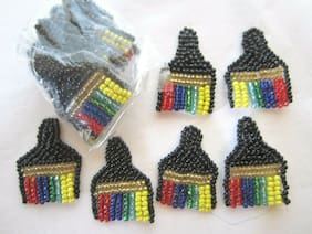 "1 1/4""   **ARTIST PAINT BRUSH - BEAD SEQUIN**  Applique (20 pc) COLORFUL"