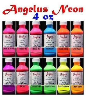 1 Angelus 4z acrylic neon Paint Dye Leather Vinyl Sneaker Boot Belt Purse Jacket