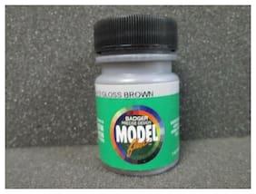1 Fluid Oz. Jar Gloss Brown Acrylic Model Paint - Badger #16-113