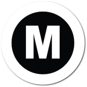 """1 Inch Circle, """"M"""" Medium, Clothing Size Labels, Roll of 500 Stickers"""