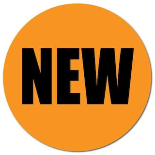 1 Inch Circle, NEW Fluorescent Orange, Roll of 500 Stickers