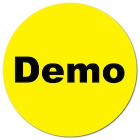 1 Inch Circle, Demo on Yellow Gloss, Roll of 100 Stickers