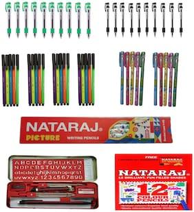 Nataraj Ball Pen ( Blue , Set of 5 )