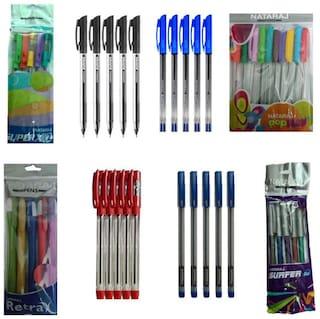 Nataraj Ball Pen ( Multicolor , Set of 8 )