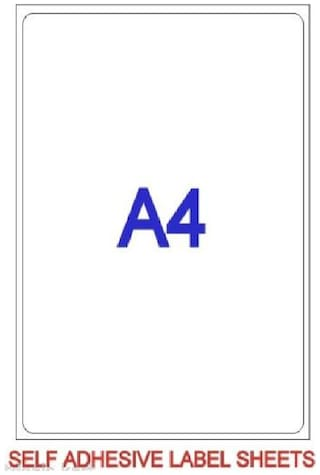 AVM 100 Pcs A4 Self Adhesive Gumming / Label/ Sticker Sheets