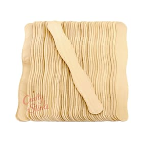 100 Wavy Jumbo Wood Craft Sticks for Wedding Fans and Crafts -FREE SHIPPING!