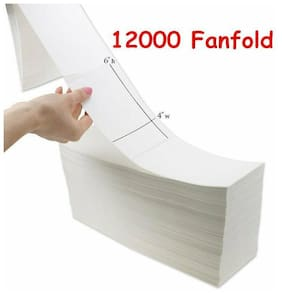 12000 4x6 Fanfold Direct Thermal Shipping Postage Labels 6 Stacks Zebra 2844 UPS