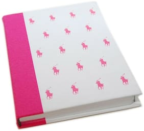 $125 Polo Ralph Lauren Pink Pony Hard Cover Memo Book Journal Note Pad Diary USA