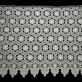 "15.25"" White Floral Venice Lace Wedding DIY sewing notions craft by Yard"