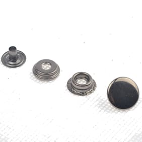 15mm Solid Brass Leather Craft Ring Snaps Fastener Press Studs Kit with Tools