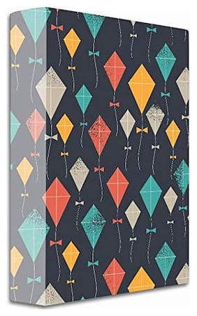 2-D Ring Binder Folder (Multicolor, Kites)