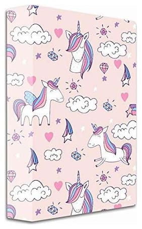 2-D Ring Binder Folder (Peach, Unicorn)