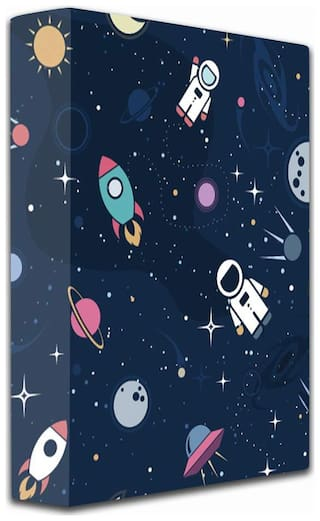 2-D Ring Binder Folder (Blue, Space theme)