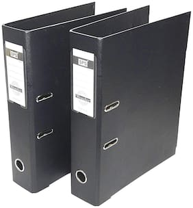 2 Pack Box File, Polymer Elite Executive/Corporate Series FC Lever Arch file   Black