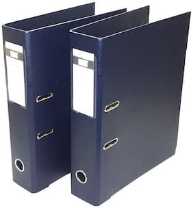2 Pack Box File, Polymer Elite Executive/Corporate Series FC Lever Arch File - Office Documents & Certificates Storage- Dark