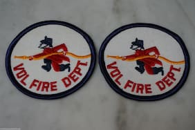 2 PACK. Volunteer Fire Department Patches. Vol. Fire Dept. Patch. FREE SHIPPING.