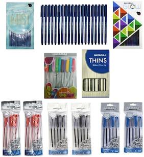 Nataraj Ball Pen ( Blue , Set of 8 )