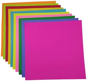 200 pcs Multicolor Both Side 300 GSM Origami Paper,Size 15 x 15 cm : for Origami, Scrapbooking, Hobby Crafts, Project Work etc