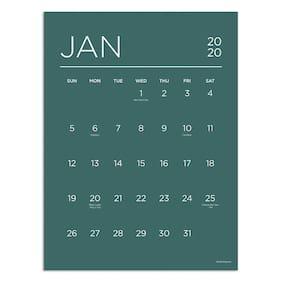2020 Color Collection Mini Art Calendar