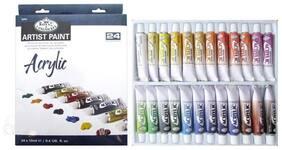 24 pc Acrylic Paint Tubes ROYAL LANGNICKEL