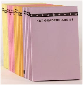 "24 Write-On Mini Pads. 25 Sheets Each. 4 Different Colors ""1ST Graders Are #1""."