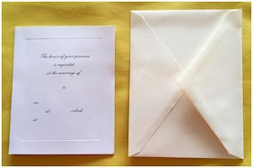 25 Wedding Invitations W/ Envelopes White Ivory Very Simple New