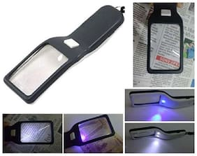 PIA INTERNATIONAL FIRST QUALITY -3 In 1 5X Zoom Magnifying Glass With LED Book Light And Fake Note Detector Light