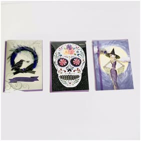 3 Papyrus Cards High Quality Halloween Sugar Skull Witch Raven