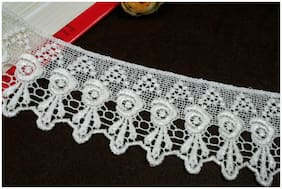 "3"" Pink Gray White Green Latte White Blue Black Ivory Venice Lace Trim By Yard"