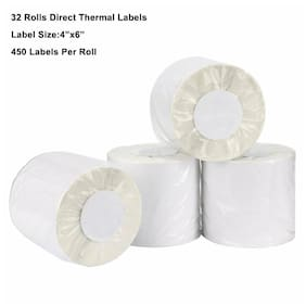 32 Rolls 450/Roll 4x6 Direct Thermal Shipping Labels Zebra LP2844 ZP-450 550 505