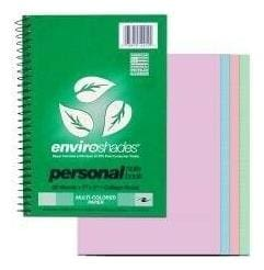 """3pk Enviroshades Design Layers Notebook 7""""x5"""", 20 Sheets of Four colors 80 Pages"""