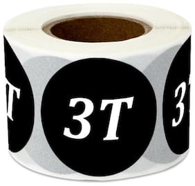 """3T Sticker Labels Retail Store Wear Shop Clothing Toddlers Baby Size (1.25"""",4PK)"""