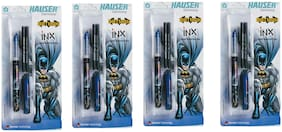 4 HAUSER GERMANY INX LIQUID FOUNTAIN PEN + 2 INK CARTRIDGES
