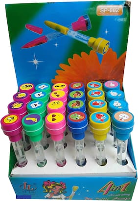 4 in 1 Stamp With Bubble Pen (Set of 24pcs)