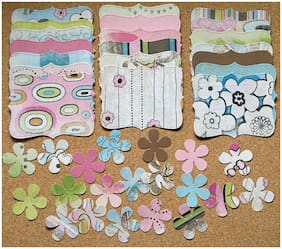 40 Sizzix Stampin Up Top Note & Flower Set - Paper Studio - Pink Armadillo