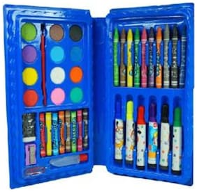 42pcs Color Set (Crayons,Oil Pastel,Sketch Pens, Water Colours)
