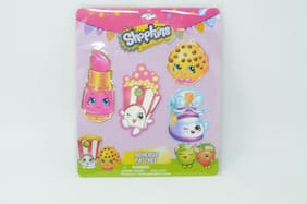 4pc Shopkins Adhesive Patches Sticker Appliques HER Accessories Customize New