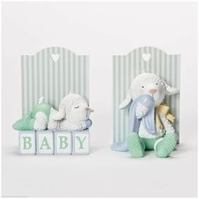 """5.5"""" Baby Lamb Bookends Tender Embrace by Ina Freehill Nursery Decor # 14885"""