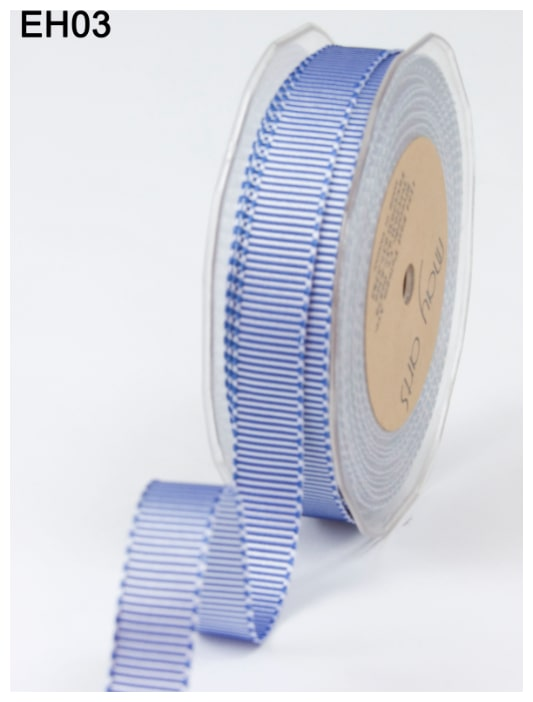 May Arts 5 Yards 5//8 Inch Grosgrain Two Tone Ribbon Blue EH03