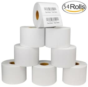 54 Rolls 2.25x1.25 Direct Thermal Barcode Shipping Labels for Zebra - 1000/Roll