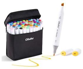 60 Color Touch Alcohol Art Dual Tip Sketch Pen Art Sketch Twin Marker w/ Case