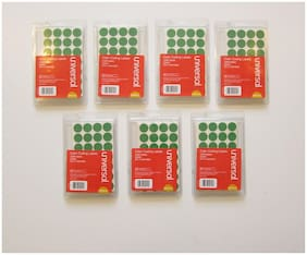 """7000 GREEN COLOR CODING LABELS STICKER DOTS INVENTORY CODE YARD SALE 3/4"""" SIZE"""