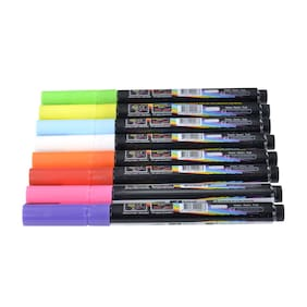 8 Colors Liquid Chalk Fluorescent Dry Erase Marker Pens for LED Board