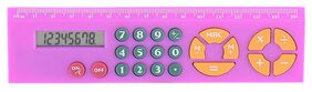 8-Digit Multi-function Ruler Calculator With Button Batteries For Student