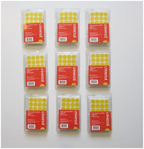 """9000 YELLOW COLOR CODING LABELS STICKER DOTS INVENTORY CODE YARD SALE 3/4"""" SIZE"""