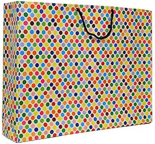 A&A Bags Latest Design Trendy Laminated Paper Bags for Multipurpose (Dotted Design, 13 x 17 x 4 inch)