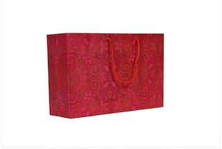 A&A Bags Latest Design Trendy Laminated Paper Bags for Multipurpose (Flora Design, 8 x 12 x 4 inch)