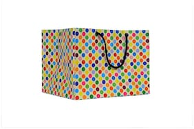 A&A Bags Latest Design Trendy Laminated Paper Bags for Multipurpose (Dotted Design, 6 x 9 x 7 inch)