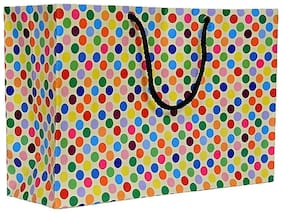 A&A Bags Latest Design Trendy Laminated Paper Bags for Multipurpose (Dotted Design, 8 x 12 x 4 inch)